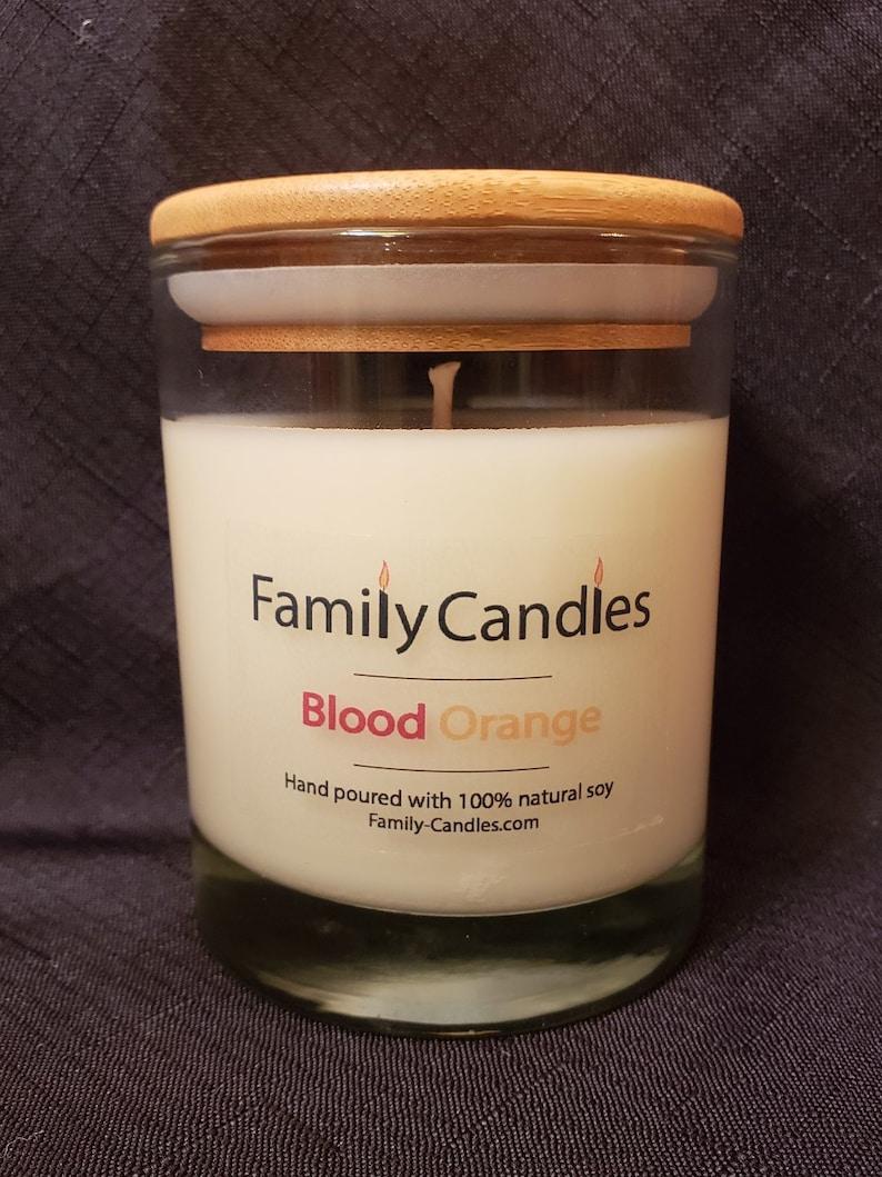 Family Candles  Blood Orange 12oz Soy Candle image 0