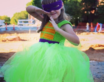 Crochet Ninja Turtle Inspired Tutu Dress