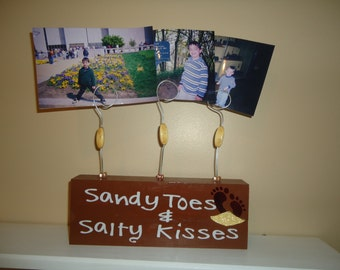 Sandy toes and salty kisses frame, picture frame, custom picture frame, personalized picture frame