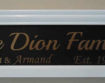 Family name with established year sign,family name sign with interchangeable inserts, family name sign, wedding gift, wedding shower gift, w