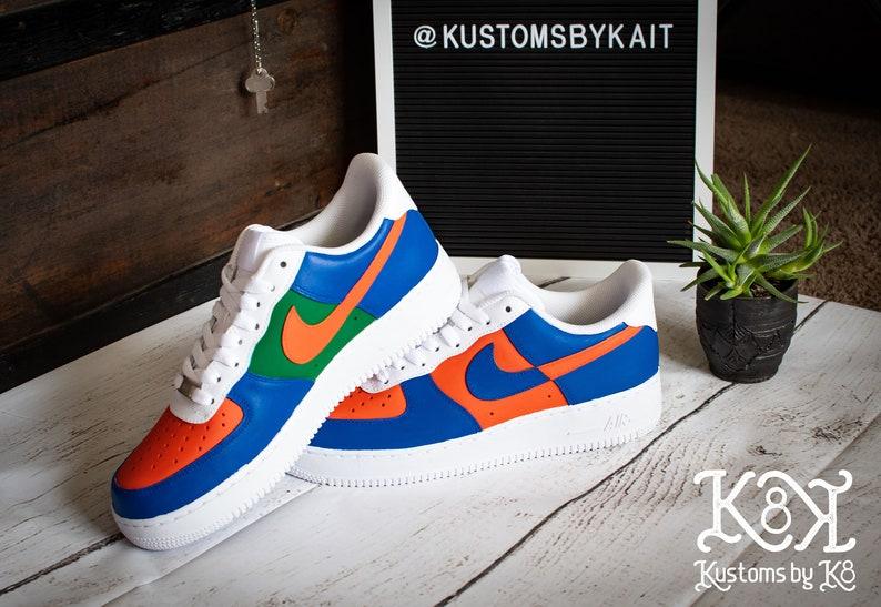 Nike Air Force 1: Blu/Arancione/Verde 4ruHVtVb