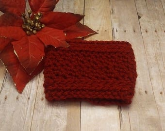 Red Ribbed Cup Cozy, Ribbed Coffee Cup Cozy,  Red Coffee Cozy, Crochet Cup Sleeve, Tea Mug Cozy, Coffee Lover Gift, Office Gift