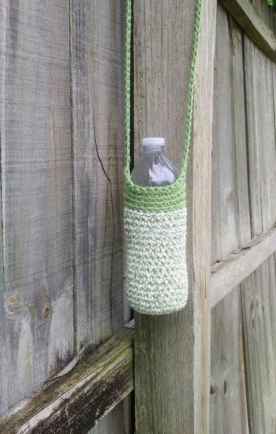Gehäkelte Wasserflasche Tasche Baumwolle Flaschenhalter