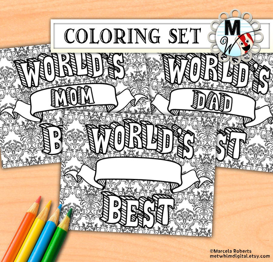 World's Best Mom Dad Boss Brother Sister Blank Etsy