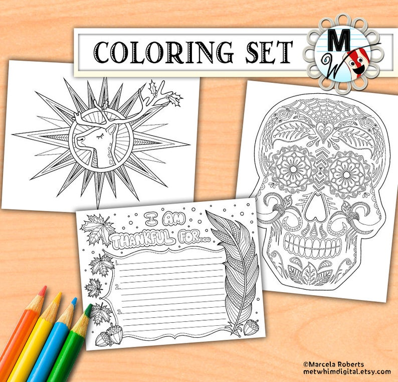 - Holiday Coloring Book: Halloween Thanksgiving Christmas Etsy