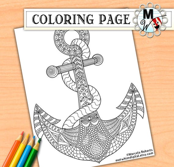 Anchor Coloring Page For Adults Adult