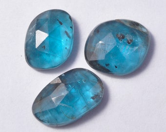 7 Pieces Genuine Teal Blue Kyanite Cabochons Lot 7x10mm to 7x11.3mm Oval Shape Natural Kyanite Gemstone Cabs Loose Stone Smooth Gems C-5847