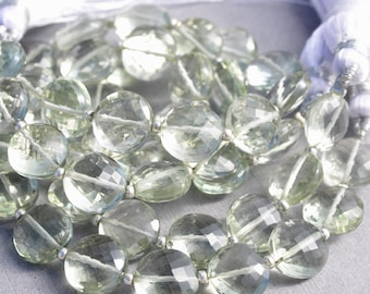 Prasiolite Drops Pear Shape 15x15mm Matching Pair Drilled Beads Excellent Green Color February Birthstone 17008 Green Amethyst