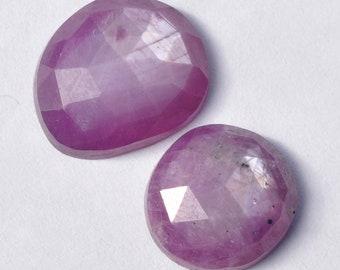 Natural Shimmer Sapphire Rosecut Polki Irregular Freeform Cabochon Gemstones