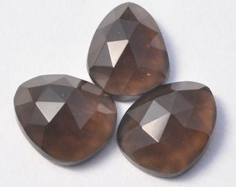 AAA Natural Smoky Quartz Rosecut 11mm long Freeform Cabochon Gemstones