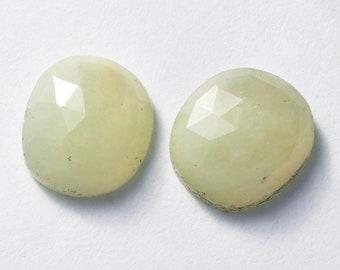 Natural Untreated Sapphire Rosecut Polki Irregular 10x11 Cabochon Gemstones