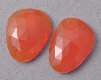 AAA Carnelian Rosecut Polki Freeform Cabochon Gemstones