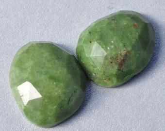 AAA Natural Green Opal Polki Rosecut Cabochon Gemstones