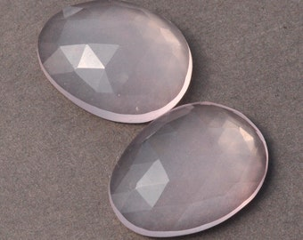 AAA Rose Quartz Rosecut 13-14mm long Freeform Cabochon Gemstones
