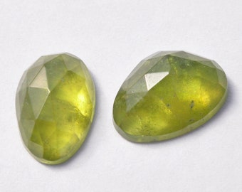 AAA Natural Vesuvianite with Inclusions 13mm long Rosecut Cabochon Gemstones