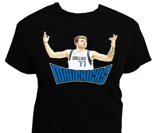 20ece47d4a83 Luka Doncic Dallas Mavericks Black T-shirt