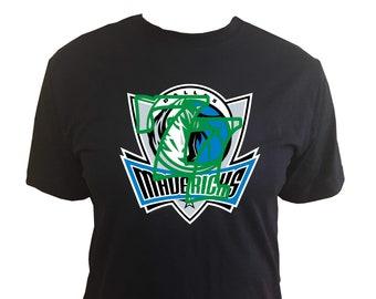 75cfd6af272 Luka Doncic Number  77 on Dallas Mavericks Logo on Dark Blue T-shirt