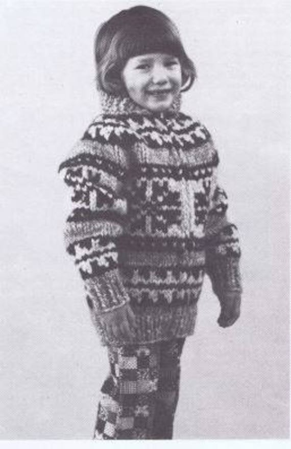 White Buffalo Cowichan Pdf Pattern Salish Sweater Knitting Cardigan