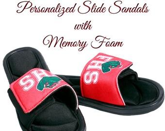 Slide Sandals, Custom Slides, Team Logo, Custom Sandals, Personalized Slides, Wedding Slides, Team Slides, Premium Slides with Memory Foam