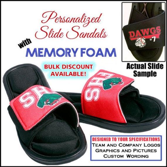 Slide Sandals Custom Slides Team Logo