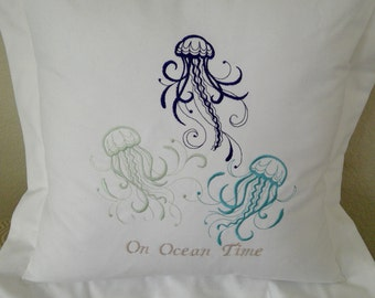 Floating Jellyfish Pillow Cover