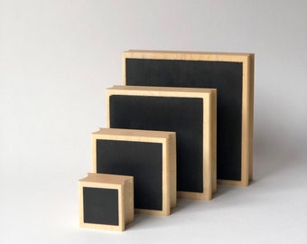 Square Fill Background Rubber Stamp Set - Set of 4 - Made in USA