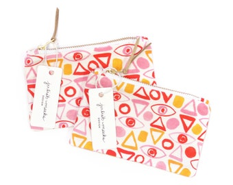 Eyes and Shapes  - Wallet Pouch