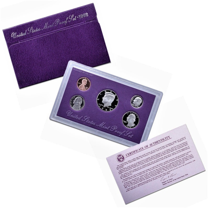 1985 United States Proof Set Coin Purple Collectors Numismatics Gift