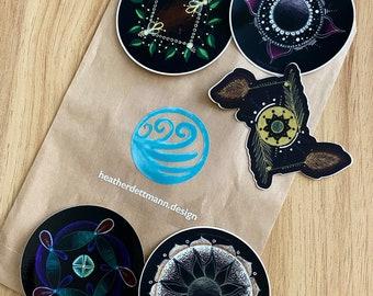 Sticker Pack - 5 Pack  Weather Resistant Vinyl Sticker   Laptop Sticker   Vehicle Sticker   Sticker for Water Bottles
