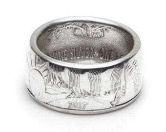2017 American Silver Eagle Coin Ring