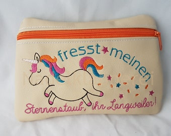 Unicorn bag 13 x 16 cm