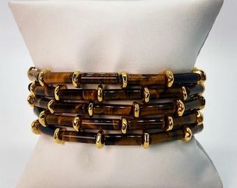 Tiger Eye Mini Bracelet, Bracelet Mini Stack, Skinny Beaded Bracelet, Stretch Bracelet, Protection Bracelet, Bracelet Stacks