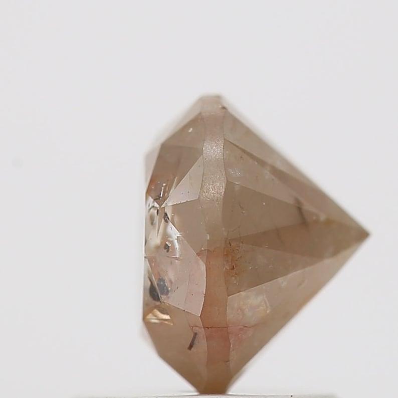 Natural Round Cut Diamond 1.29 Carat Natural Loose Diamond Round Shape Peach Brown Color Diamond