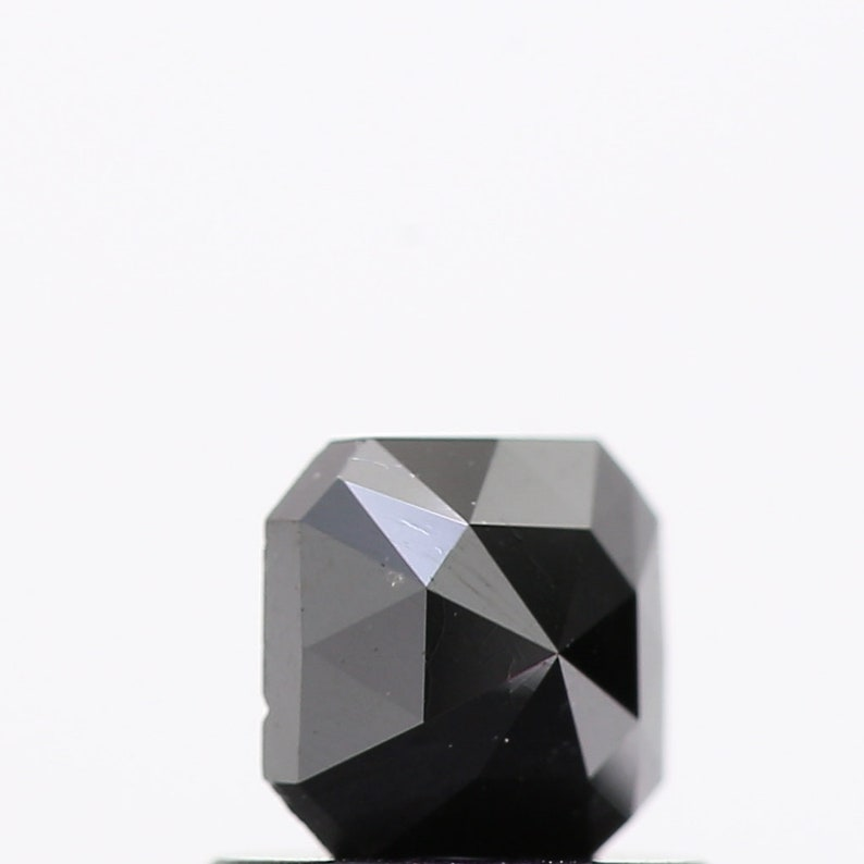 Custom Ring 0.54 Carat Square Cut Black Color Rose Cut Loose Natural Diamond For Ring