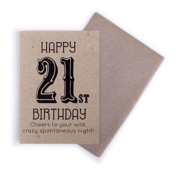 21st Birthday Card Happy
