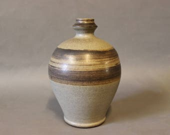 Vase in brown colours from the 1960s.