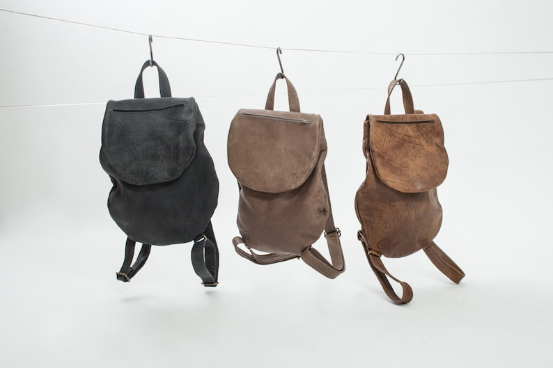 ece0ca8772 Stylish Matte Black Leather Backpack For Women, Small Mini Backpack, City  Bag, Minimalist Backpack, Leather Rucksack,Leather Backpack