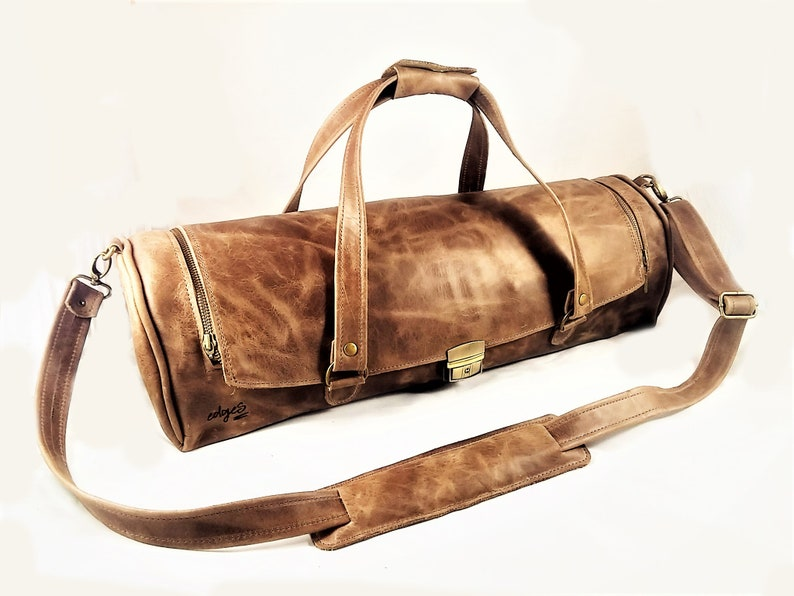 587934fc1fc Brown Leather Chef Bag Chef knife case, Chef knife roll, Chef bag,  Chefwear, Kitchen equipment, Chef's Knife, Professional chef knives