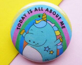 Unicorn Badge    Birthday Unicorn button badge    Unicorn Pin    Funny Badge    I believe in Unicorns    Girl Gang Pin