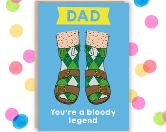 Fathers day card funny, card for dad birthday card funny dad card, dad birthday card from daughter, birthday card dad from daughter