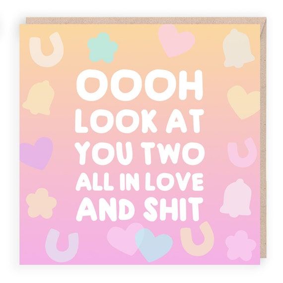 Funny Engagement Card For Best Friend Wedding Card Funny Congratulations Funny Wedding Cards And Wishes Engagement Card Funny Marriage Card