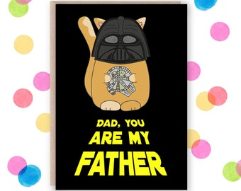 Star wars cards, fathers day card star wars fathers day card, star wars fathers day gifts, darth vader dad, darth vader fathers day card