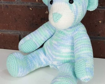 Baby Bear in variegated greens and blues