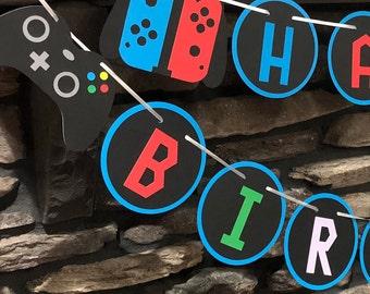 Nintendo Birthday Etsy