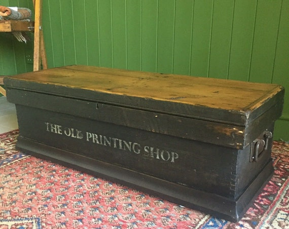 Reclaimed Antique Wooden Chest Rustic Victorian Pine Storage Trunk Old Tool BOX  + FREE DELIVERY
