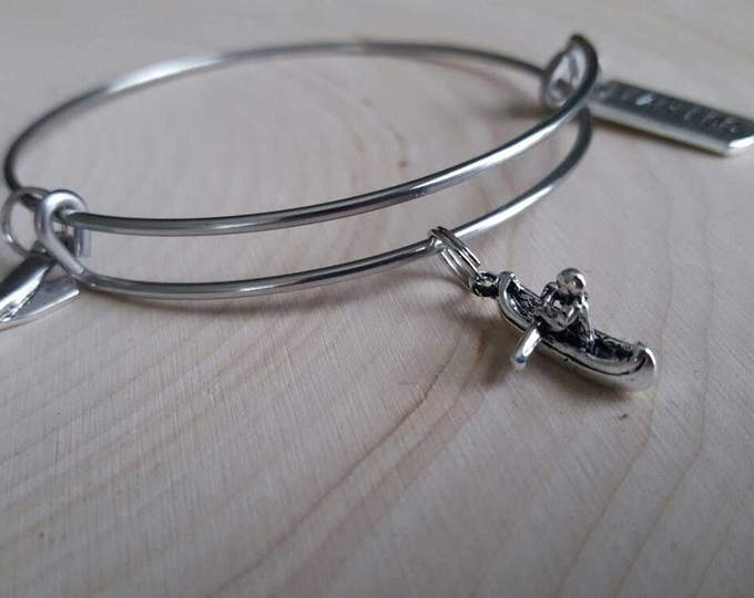 Canoeing bangle bracelet