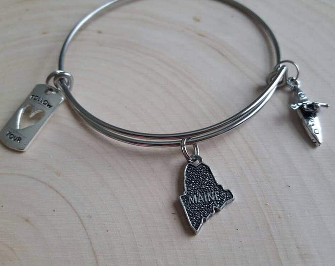 Kayak bracelet with state