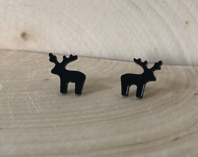 Black Moose studs,  stainless steel posts