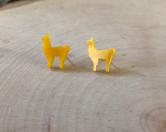 Yellow Llama studs, stainless steel posts