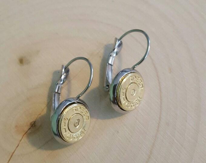 9mm dangle earrings, stainless steel backings